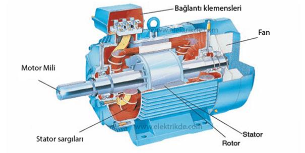 Asenkron Motorun İç Yapısı
